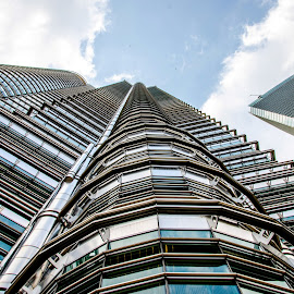 Single twin by Sanjeev Goyal - Buildings & Architecture Office Buildings & Hotels ( twin, tower, blue, petronas, malaysia )