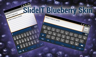 Screenshot of SlideIT Blueberry Skin