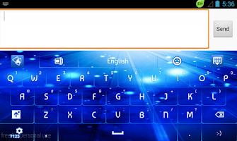 Screenshot of GO Keyboard Glow Blue