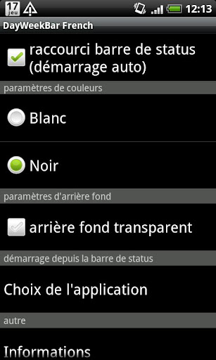 DayWeekBar フランス語版