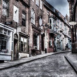The long walk up by Dave Smith - City,  Street & Park  Street Scenes ( lincoln, street, painting )