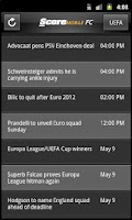 Screenshot of ScoreMobile FC Football Scores