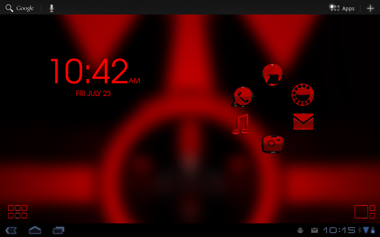 Smart Launcher red GSLTHEME Screenshot 2