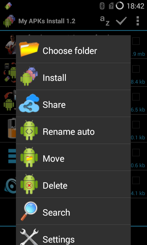 My APKs Install restore apps Screenshot 1