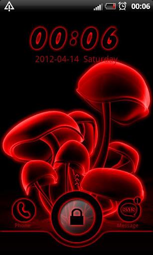 Red neon GO Locker theme
