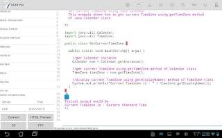 Screenshot of kEdit Lite