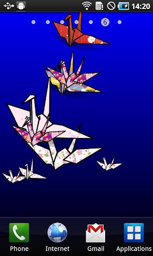 Origami Tsuru LiveWallpaper