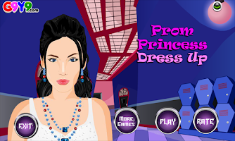 Screenshot of Prom Princess Dress up