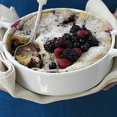 White Chocolate & Berry Pudding