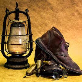 Old Timer by Robert Johnson - Artistic Objects Still Life ( still life, boots )