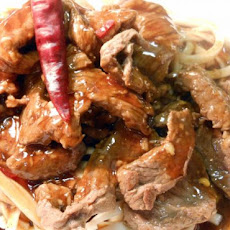 Beef With Chilli Plum Sauce