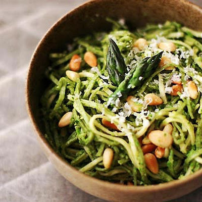 Asparagus Pesto with Pasta