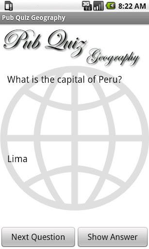 Pub Quiz Geography