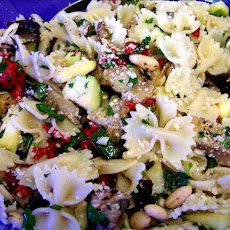 Grilled Zucchini , Eggplant With Lemon and Porter Pasta Salad