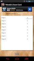 Screenshot of 7 Wonders Score Card