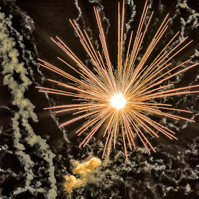 Shining Star by Jamie Valladao - Abstract Fire & Fireworks ( bright, fireworks, boom, burst,  )