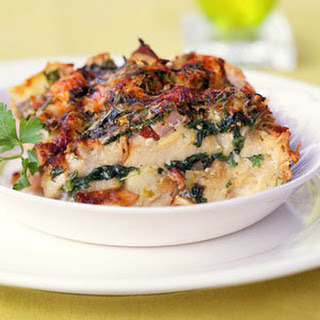Oysters Rockefeller Strata with Artichokes