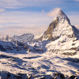 Matterhorn in the afternoon light by Krissanapong Wongsawarng - Landscapes Mountains & Hills ( swiss, mountain, zermatt, switzerland, matterhorn, landscape )