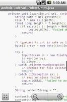 Screenshot of Android CodePad