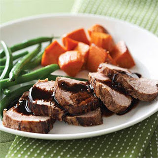 Root Beer-Marinated Pork Tenderloin with Sweet Potatoes