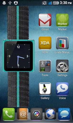 Cyan Nano Wrist Watch Clock