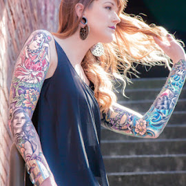Tattoo Artistry by Tinker's Realm - People Body Art/Tattoos ( model, stairs, tattoos, art, ink, person, people, tattoo )