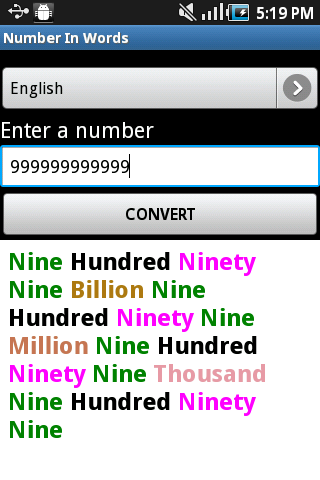 Number In Words