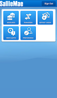Screenshot of Sallie Mae Mobile Banking