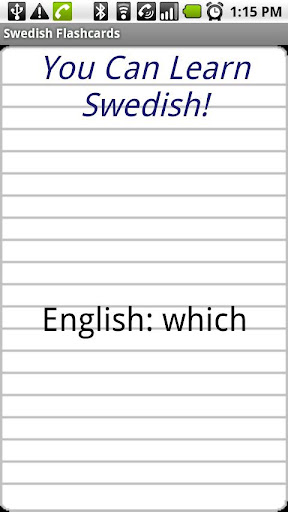 English to Swedish Flashcards