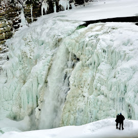 MIDDLE FALLS FROZEN BEAUTY by Rhonda Rossi - Nature Up Close Other Natural Objects ( Earth, Light, Landscapes, Views,  )