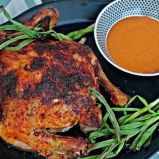 Spanish Roast Chicken with Romesco and Grilled Onions