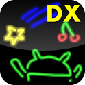 Drawing DX neon icon