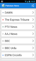 Screenshot of Pakistan News