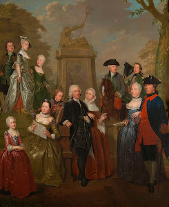 RIJKS: Jan Stolker: Portrait of Theodorus Bisdom van Vliet and his Family 1757