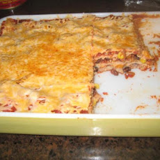 Black Bean and Corn Enchilada Casserole (No Meat)