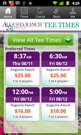 Augusta Ranch Tee Times