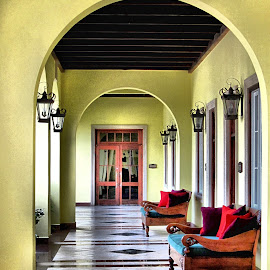 Resort Veranda by Michael Lopes - Buildings & Architecture Architectural Detail ( resort building, breezeway, veranda, porch )