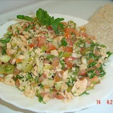 Low Fat Salmon Salad (Kosher- Pareve)