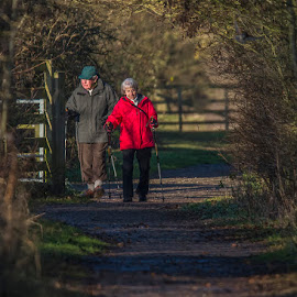 Winter Stroll by Steve Dormer - People Couples ( countryside, winter, couple, people )