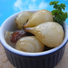 Glazed Pearl Onions with Raisins and Almonds