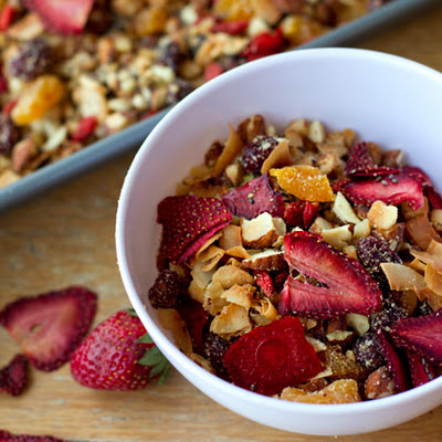 Paleo Granola With Oven-dried Strawberries