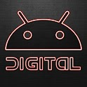 Digital Red GO Launcher Theme