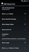 Screenshot of EMF Sensor Free