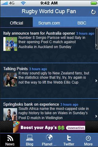【免費運動App】Rugby Union Fan App-APP點子