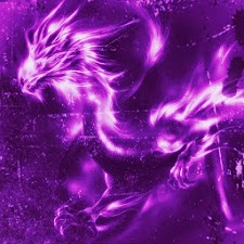 3D Purple dragon
