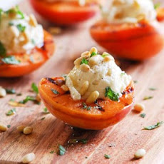 Grilled Apricots with Goat Cheese