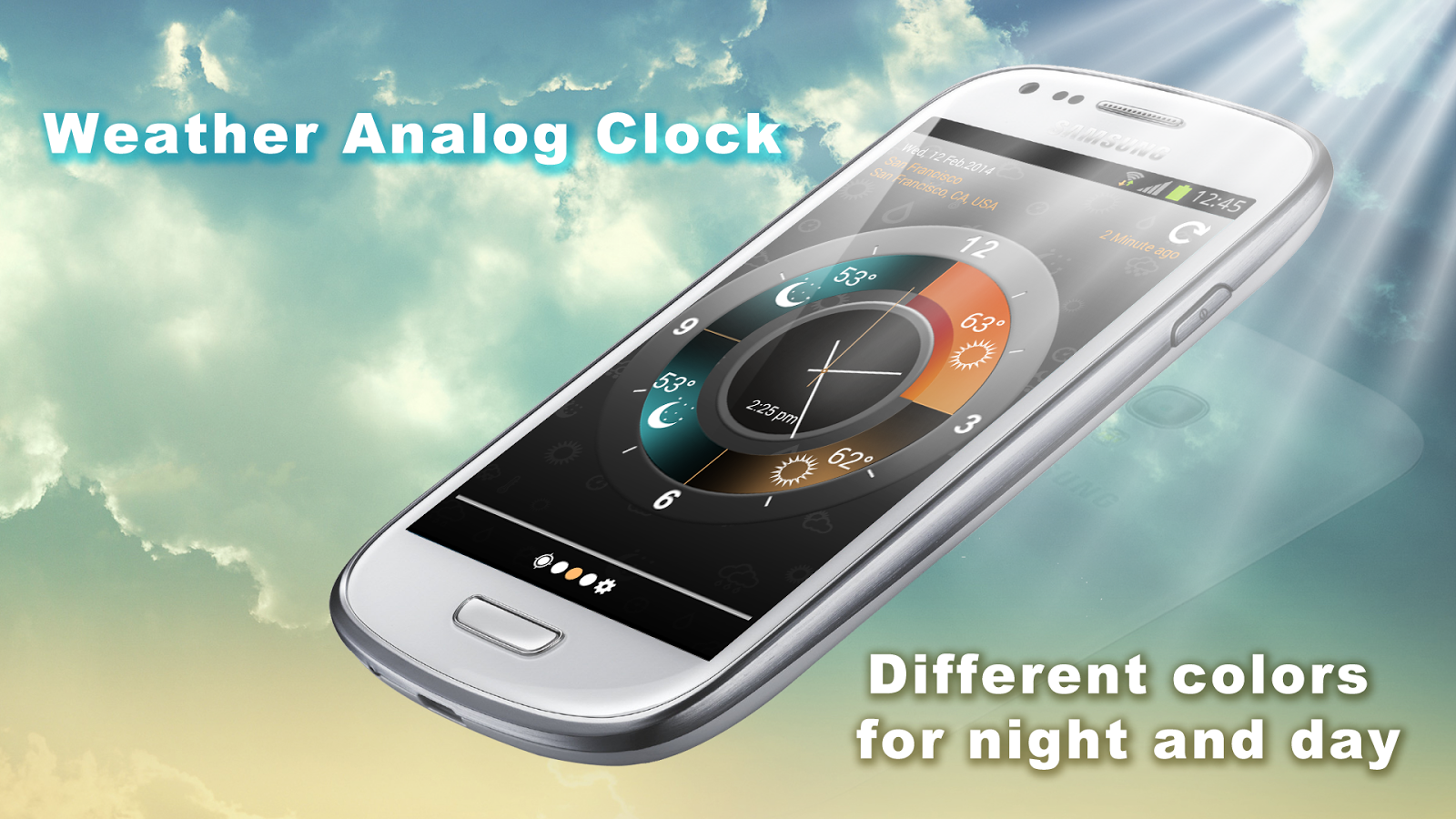 Weather Clock Screenshot