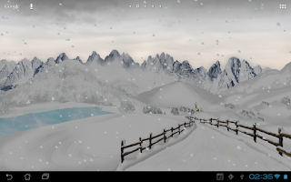 Screenshot of Mountain Weather LWP