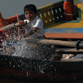 blink & u miss by Raj Padia - Babies & Children Children Candids ( #blink, #shutter priority, #1/4000, #row, #rowing, #boy, #freeze, #boat )