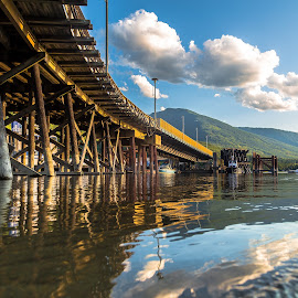 Balfour Ferry by Stephen Bridger - Buildings & Architecture Other Exteriors ( canada, ferry port, ferry, ferries, kootenay lake, lake, nelson, travel, bc, travel photography, british columbia, balfour )